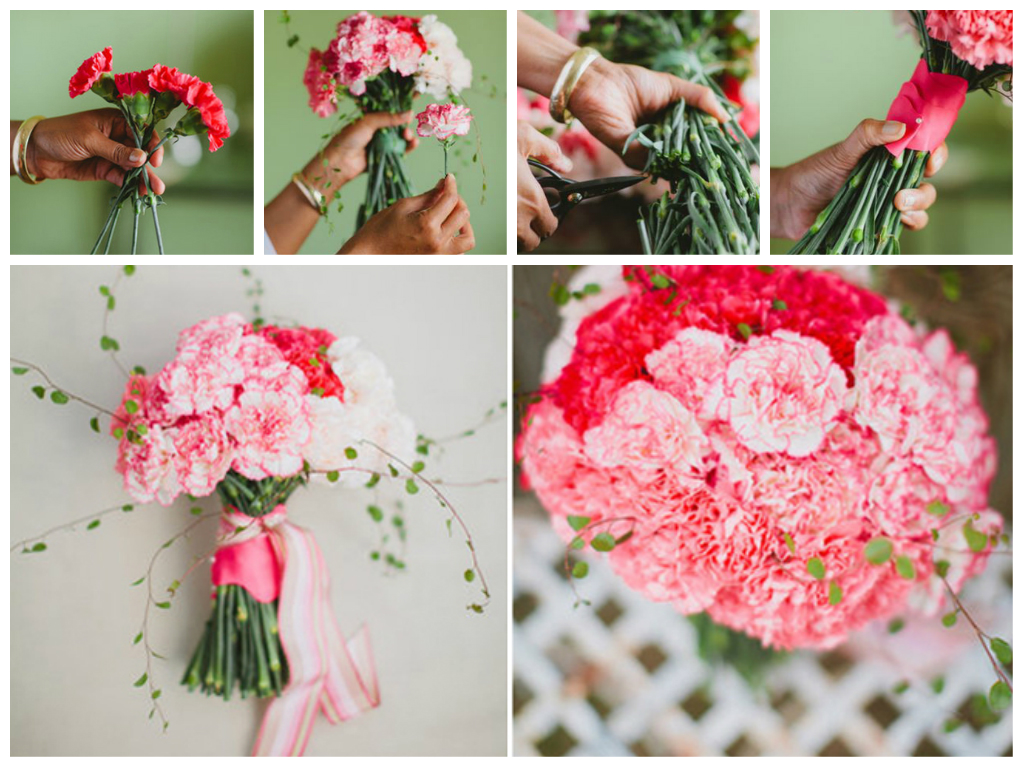 diy carnation bouquet